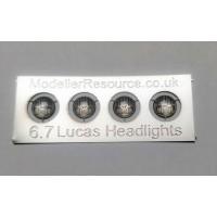 6.7mm diameter Lucas Headlights