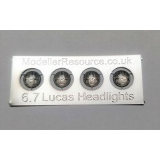 6.7mm diameter Lucas Headlights